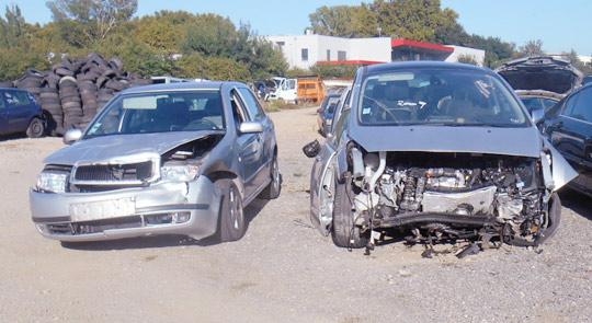 Vente de véhicules accidentés